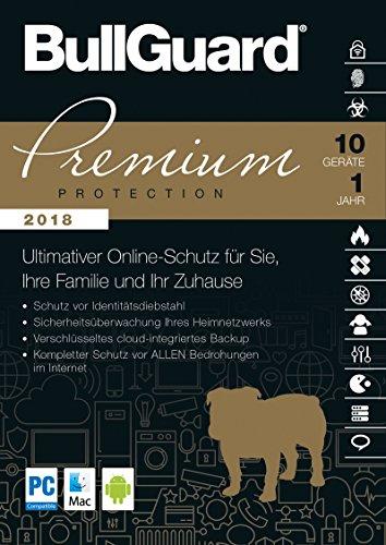 S.A.D BullGuard Premium Protection 2018 - 10 Geräte/1 Jahr - Windows, MacOS, Android