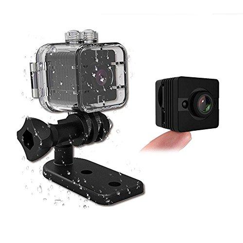 Mini Kamera SQ12 HD Sport Action Kamera Nachtsicht Camcorder 1080P DV Video Recorder Infrarot Auto DVR Kamera Bewegungserkennung für Fahrrad Motorrad Ski Tauchen Schnorcheln (Motorrad-nachtsicht)