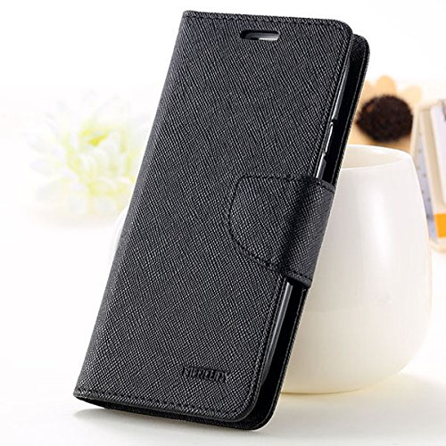 First 4 For Oppo Joy 3 (A11W) Flip Cover Mercury Wallet Dairy Case (Black)