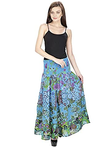 Women Party Hippie Dress Cotton designer Short Skirt Summer Beach Skirt Indian Dress Aakriti Gallery (Free size,
