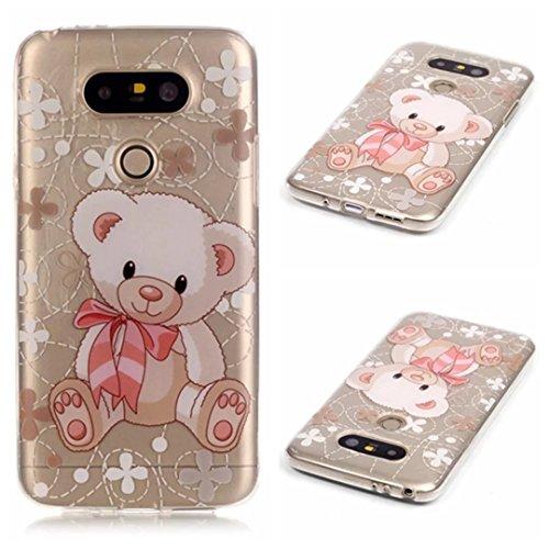 Preisvergleich Produktbild KSHOP Case Cover TPU Silikon Hülle für LG G5 Taschen Schale Schutzhülle Etui dünn kratzfeste stoßdämpfende -Spielzeug Bär