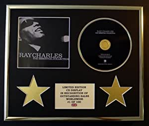 RAY CHARLES/CADRE CD/EDITION LIMITEE/CERTIFICAT D'AUTHENTICITE/THE ESSENTIAL COLLECTION