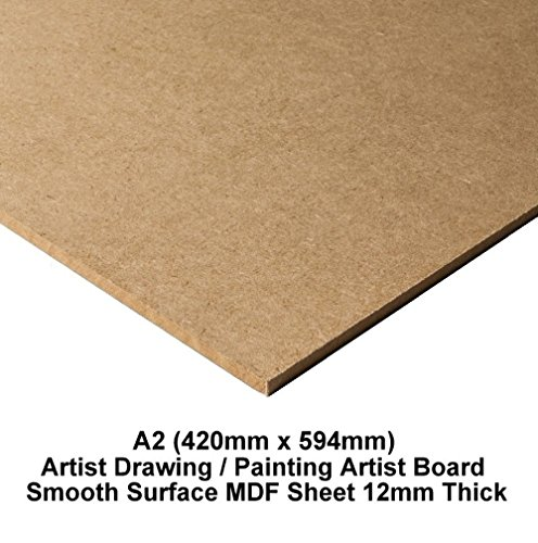 A1 MDF Wooden Drawing Board Painting Artist Smooth Surface Sketching Art MDF Sheets - 12mm Thick (594mm x 841mm)