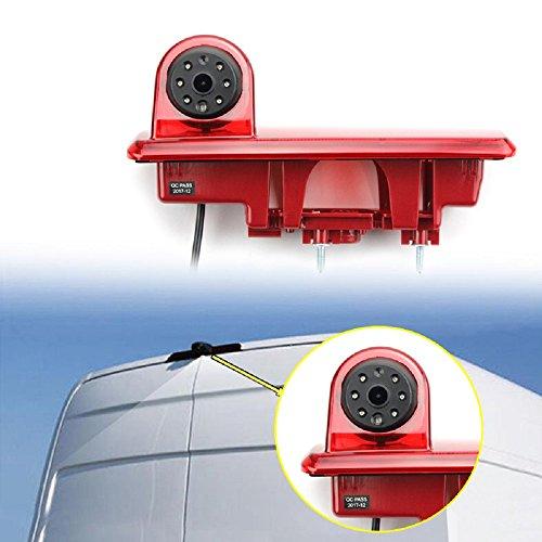 Caméras de recul Troisième feu Stop en Remplacement de la Lampe d'arrêt pour Vauxhall Vivaro X82 Mk3 Opel Vivaro B, Renault Trafic und Nissan NV300 Fiat Talento ab 2014