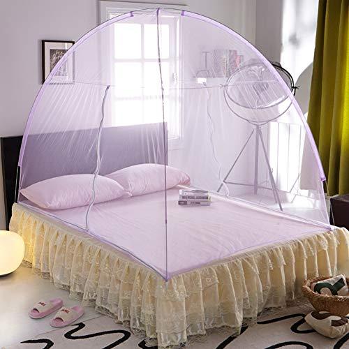 Fallen Lagerung Bett (Moskitonetz Bett Baldachin Pop-up-faltbare Doppeltür Einfach Zu Installieren Mit Boden Gegen Mückenstiche Für Bett Camping Reisen Home-b 180x220cm(71x87inch))