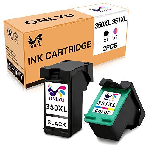 350xl 351xl 350/351 xl cartuccia inchiostro per hp photosmart c4480 c4280 c5280 c4580 c5200 c4270, hp officejet j5780, hp deskjet d4260 (1 nero, 1 colore)