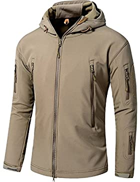 Impermeable militar t¨¢ctica lucha contra la chaqueta de Softshell camping al aire libre caminar camuflaje Hoodie...