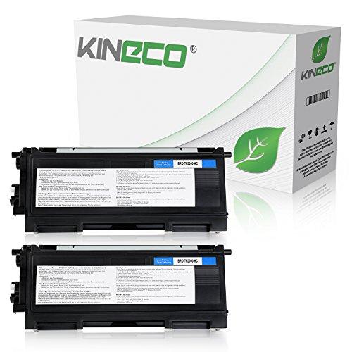 Kineco 2 Toner kompatibel für Brother TN-2000 TN2000 für Brother HL-2030, HL-2040, HL-2050, MFC-7820N, MFC-7420, DCP-7010L, Fax 2825 - Schwarz je 3.500 Seiten