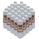 24 x 1 Liter flüssiges Bioethanol 100% aus Alkohol für Gel & Ethanol Kamine