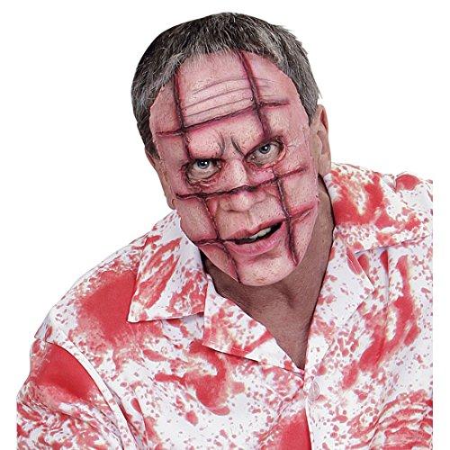 Dead Walking Kostüme (Zombie Maske mit Narben Horrormaske Psycho Halloweenmaske mit Wunden Monster Gruselmaske Zombiemaske Verrückter The Walking Dead)