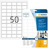 Herma 8338 Wetterfeste Folien-Etiketten (37 x 25mm auf DIN A4 Blättern, strapazierfähig, stark haftend, Klebefolie matt, selbstklebend) 1.250 Stück, weiß, PC-bedruckbar (Druckereignung beachten)