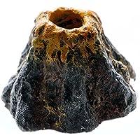 UEETEK Decoraciones del tanque de pescados de la piedra de la burbuja de aire del ornamento del volcán del acuario