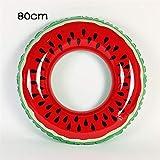 WDDqzf Schwimmringe 60/70/80/90 cm Neue Riesige Aufblasbare Wassermelone Lemon Erwachsene Kinder Schwimmen Ring Aufblasbare Pool Float Kreis Für Erwachsene Kinder, 80Cm