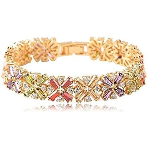Alimab Gioielli Donne Bracciale in oro placcato bracciale braccialetto oro Donne