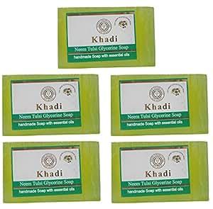 Khadi Herbal Neem Tulsi Glycerine Soap 625 gm (Set of 5 pieces)