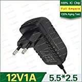 12V 1A DC Power Adapter, Supply, Charge, SMPS for PC, LCD Monitor, TV, LED Strip, CCTV, 12Volt 1Amp Power Adapter (BY TRP TRADERS)
