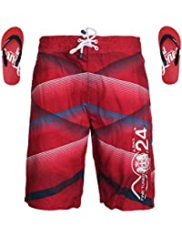 Smith & Jones Ashore Boardshort Swimshorts & Flip Flops Bundle Set