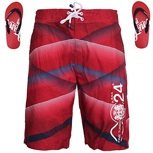 Smith & Jones -  Pantaloncini  - Uomo Rosso