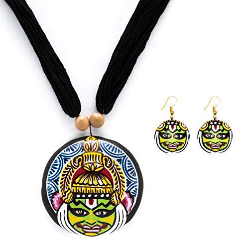 Aaheli Crafts Kathakali Necklace Set