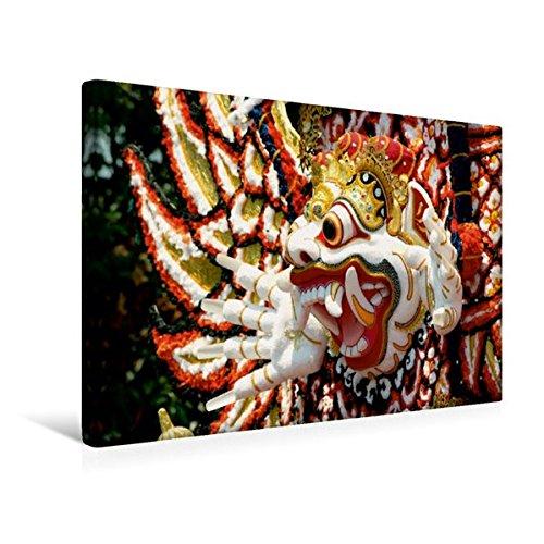Calvendo Premium Textil-Leinwand 45 cm x 30 cm Quer, der dämonische Erdgott Kala Boma, Bali | Wandbild, Bild auf Keilrahmen, Fertigbild auf Echter Leinwand, Leinwanddruck Orte Orte