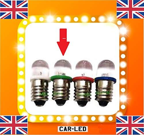 Ampoule LED classique pour tableau de bord SMITHS - Sélection E10 MES BA7S 233 BA9S LLB281 281 T4W - Blanc/vert/bleu/rouge