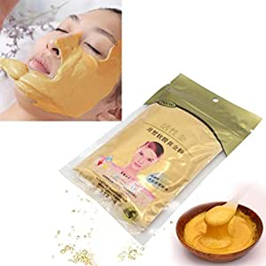 New 2007 products 24K Gold Active Face Mask Brightening Powder Luxury Spa Anti Aging Treatment, 50 g