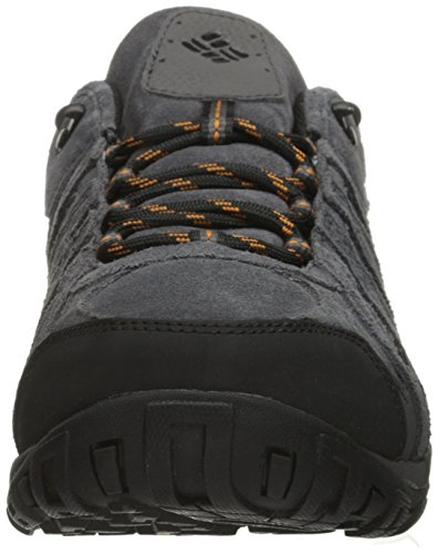 Columbia Redmond Omni-Tech, Chaussures de Randonnée Basses homme, Gris (Dark Grey/Bright Copper 089) Dark Grey, Bright Copper