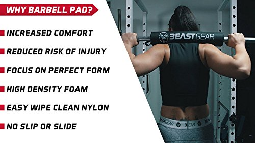 Beast-Gear-Barbell-Pad-Professional-Standard-Heavy-Duty-Weight-Lifting-Barbell-Pad-with-Secure-Velcro-Fastener-For-Shoulder-Neck-Back-Hip-Protection-During-Squats-Hip-Thrusts