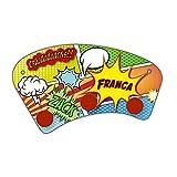 Wand-Garderobe mit Namen Franca und schönem Comic-Motiv für Mädchen - Garderobe für Kinder - Wandgarderobe