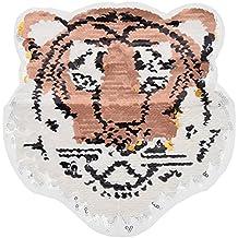 YNuth Parche de Lentejuelas del Diseño de Tigre Reversible para Decoración de Ropa