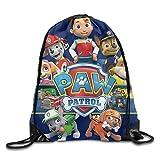 GONIESA Paw Patrol Funny Drawstring Backpack Gym Sack Bag