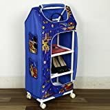 #9: NHR Multipurpose Foldable Baby Wardrobe with Baby Print (4 Shelves, Blue)
