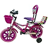 Global Bikes Barbie 14T Kids Bicycle for 2 to 5 Year Fully Adjustable with Back Support for Boys and Girls (Nyke,14T Pink)