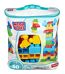 Mega Bloks Classic Buildable Bag, 60 Pieces