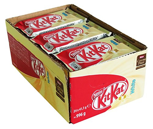 Nestlé KitKat White, 24er Pack (24 x 41,5g) (Kit Kats Halloween)