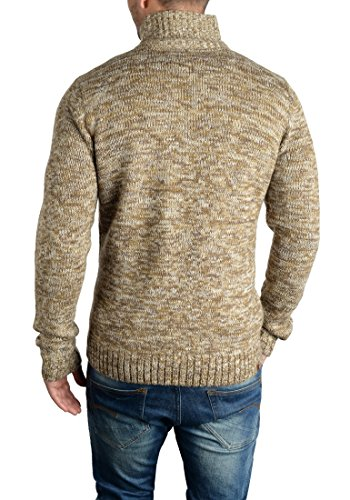 BLEND Teno - Pull en Maille- Homme Mocca Mix (70816)