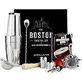 Andrew James–10piezas, Boston Cocktail Set con Cocktail libro y caja de regalo