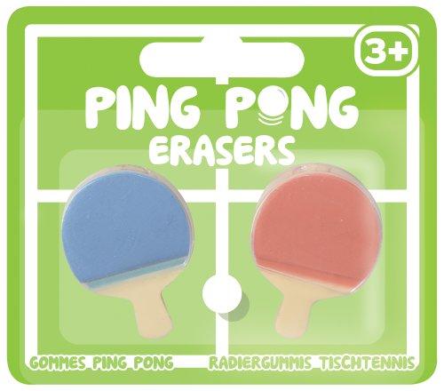 2 Neuheit Ping Pong Bat Erasers Rubbers Tischtennis-Paddel geformt Stationäre (Tennis-stationär)