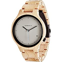 Kerbholz Women's Watch Analogue Quartz Wood Beige Wlamprechtmw7493