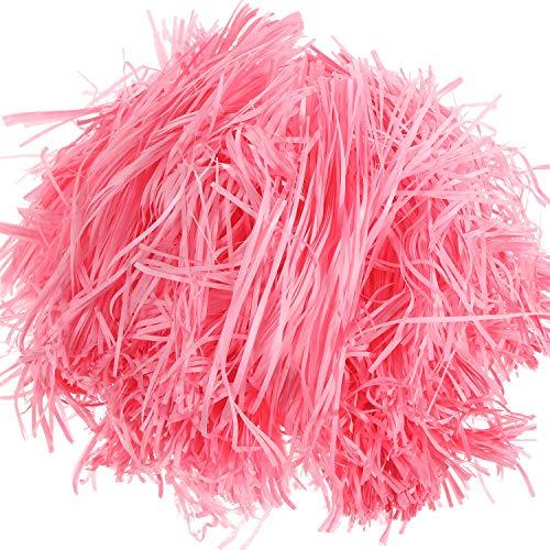 ergras Papier Ostern Korb Gras Geschreddert Seidenpapier Geschenk Füllstoff für Ostern Korb, Geschenkbox Verpackung Füllung (Rosa) ()