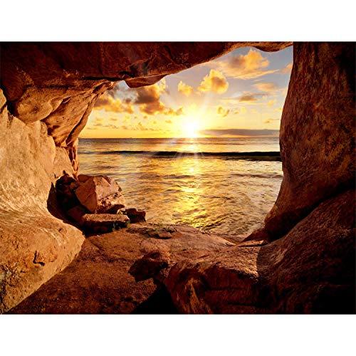 Fototapeten Strand 352 x 250 cm Vlies Wand Tapete Wohnzimmer Schlafzimmer Büro Flur Dekoration Wandbilder XXL Moderne Wanddeko - 100{75f22bcffe7084e021cda7fbbb8eb6a22e705458af44d4c39c915f2a5b6455a4} MADE IN GERMANY - Sonnenuntergang Runa Tapeten 9071011a