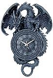 Prachtvolle Wanduhr Drache Kreuz Dragon Gothic Uhr