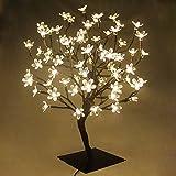PMS Arbol luminoso Led , 90 Leds luz de hadas, Arbol de Navidad, Para la decoración del hogar, Fiesta, Navidad, Vacaciones, Bodas, Cumpleaños, Año Nuevo (Blanco cálido)