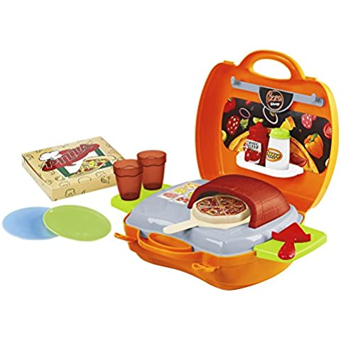 PlayGo - Pizzería con 21 piezas en maletín (Colorbaby42522)