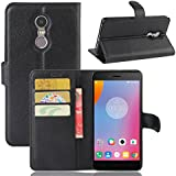 For Lenovo K6 Note Case, [Extra Card Slot] Meroollc [Wallet Case] PU Leather TPU Casing Back Shell [Drop Protection] Cover For Lenovo K6 Note, Black