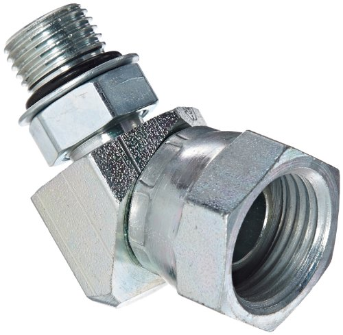 Pipe Thread Swivel (Eaton Weatherhead 9365 45 Degree Elbow Carbon Stahl gerader Gewinde O-Ring drehbar Adapter, 1/2