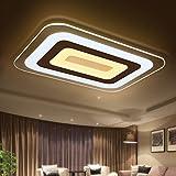 JHTWGJ Moderne einfache ultradünne Rechteck LED-Acryldeckenleuchten/Wand-Leuchter/ultradünnes modernes geführtes Licht für Wohnzimmer/Schlafzimmer/3 färben Dimmen [23.6 * 15.7 Zoll]