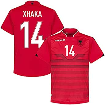 Albanien Home Trikot 2016 2017 Xhaka 14 (Fan Style) – S