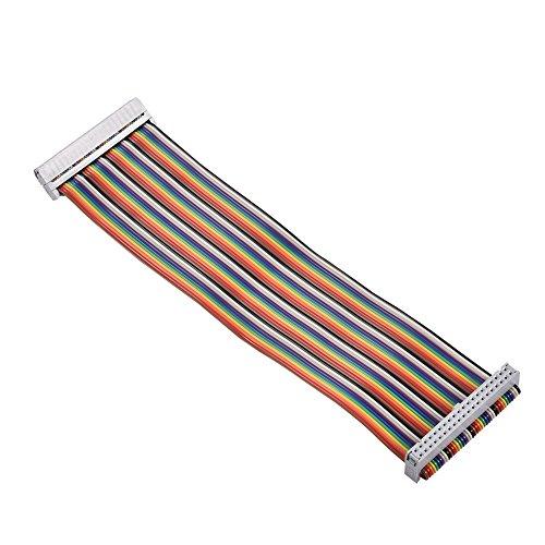 40 Pin GPIO Extension Board,20cm GPIO 40Pin Rainbow Female auf Female Adapter Kabel, Flexibles Flachbandkabel Ribbon Cable für Banana Pi/Raspberry Pi 2/3