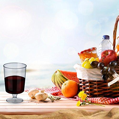 50 Verres à Vin Jetables en Plastique, 180 ml - Réutilisables et 100% Recyclables - Élégants, Clair Comme du Verre, Incassables - Parfaits pour la restauration, les réceptions, les fêtes, Noël.